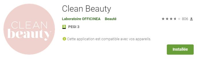 Appli clean beauty sur google play store
