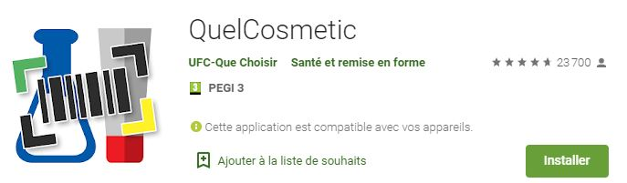 quel cosmetic appli analyse beauté